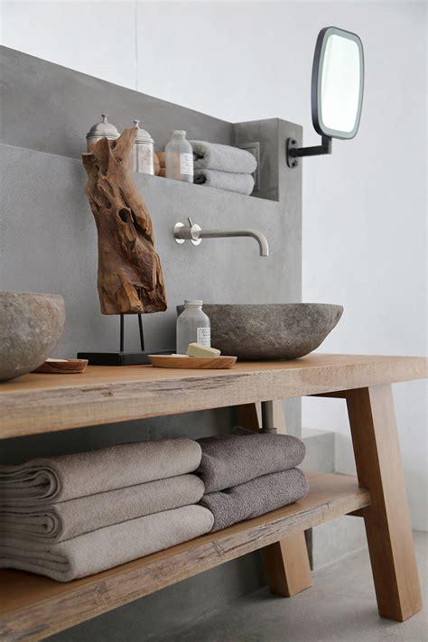 Gestell Interio by Beton Und Holz Waschbecken Im Bad Interior Inspiration