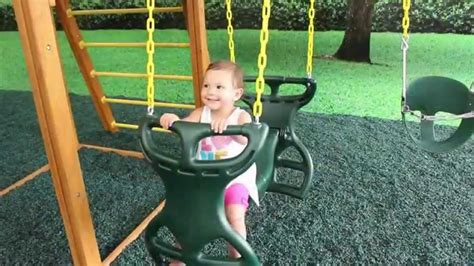 swing set with horse glider horse glider swing for swing set youtube
