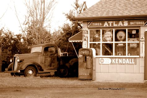 Oakdale Garage the truck at the oakdale garage photograph by jale fancey