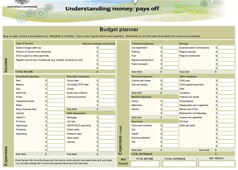 budget template australia household budget planner template australia driverlayer