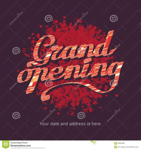 isotope layout event grand opening vector illustration background for store