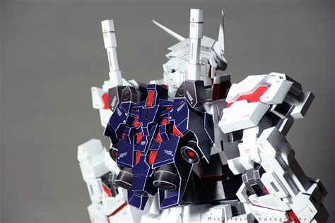 Gundam Unicorn Papercraft - unicorn gundam destroy mode jetpack papercraft by