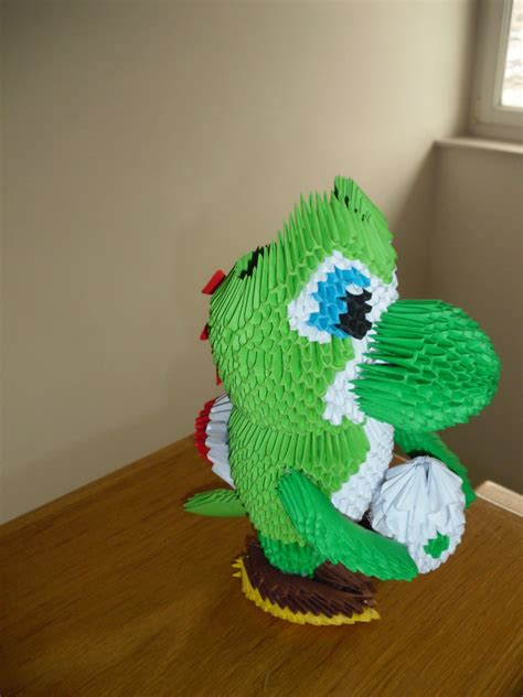 yoshi origami 3d origami yoshi by justtree on deviantart