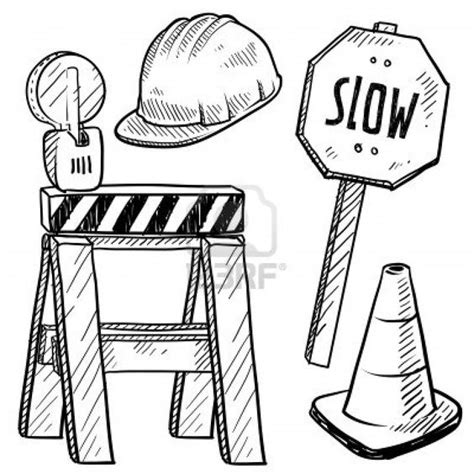 construction signs coloring pages and coloring on pinterest