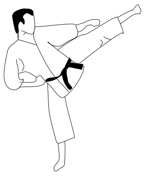 coloring page karate karate coloring pages and print for free