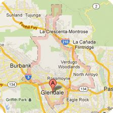 zip code map glendale ca map of glendale ca and surrounding cities my blog