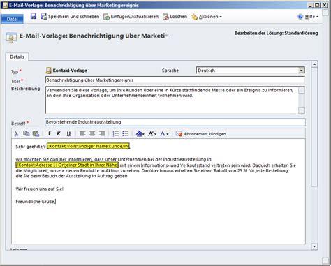 Angebot Email Text Microsoft Dynamics Crm 2011 E Mail Vorlagen Und Wysiwyg Microsoft Dynamics Crm Community