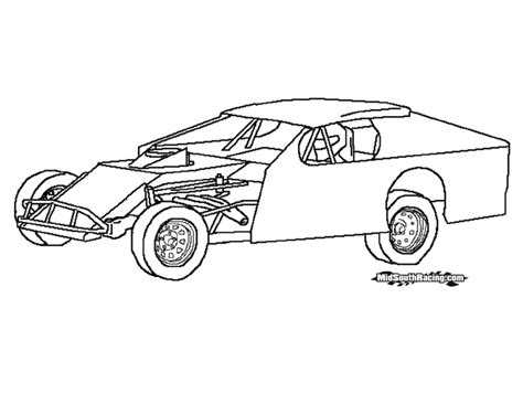 Dirt Late Models Coloring Pages Late Model Free Coloring Pages