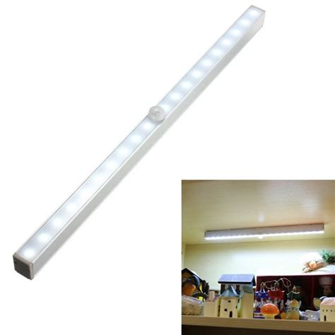 battery powered cabinet lights portable battery powered 20 led pir motion sensor closet