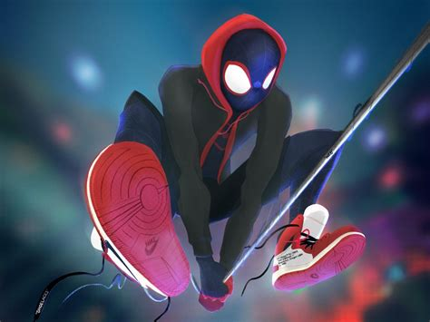 wallpaper spider man   spider verse marvel comics animated   movies