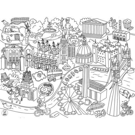 town map coloring page kids coloring placemats city map london pinterest