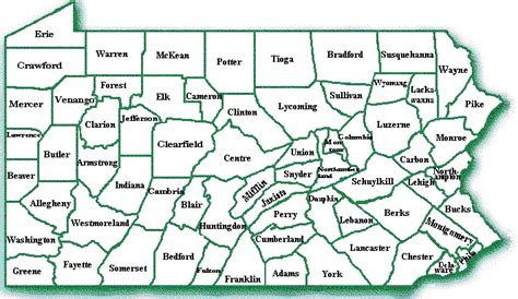 pa counties map papbs org