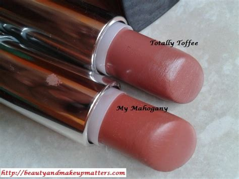 Maybelline Lipstick Toffe maybelline color sensational lipstick comparison my mahogany and totally toffee