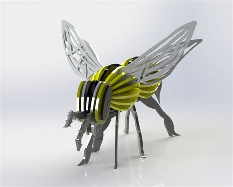 3d Metal Puzzle Bumblebee my quot bumble quot bee yellow jacket wasp sheet metal puzzle metalcraftdesign 3d model puzzle