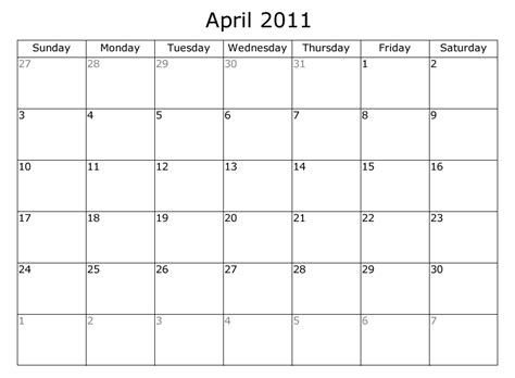 Kalender April 2011 April 2011 Calendar Search Engine At Search