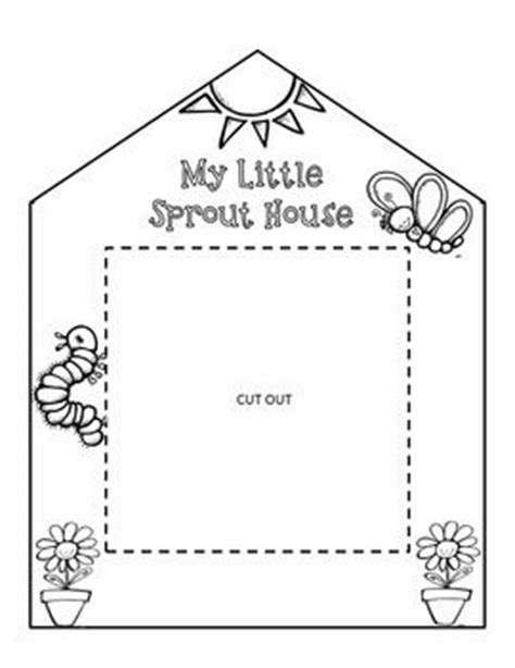 house pattern for kindergarten free grow a garden of sprouts in your own classroom with