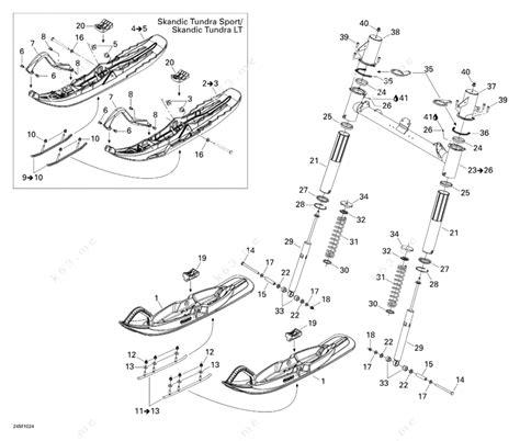 ski doo snowmobile parts diagram ski doo 2010 skandic tundra std sport lt front