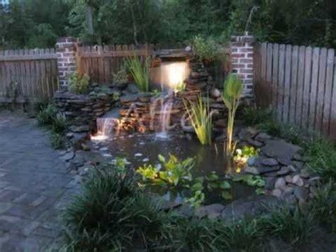 fish pond  waterfall  creative