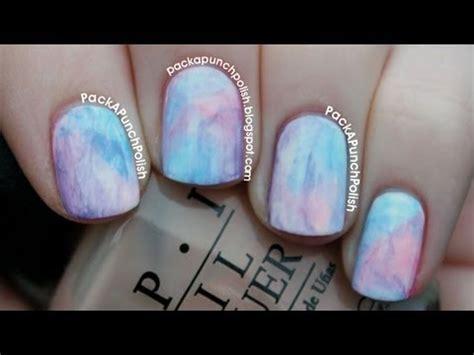 watercolor manicure tutorial watercolor nail art tutorial packapunchpolish video