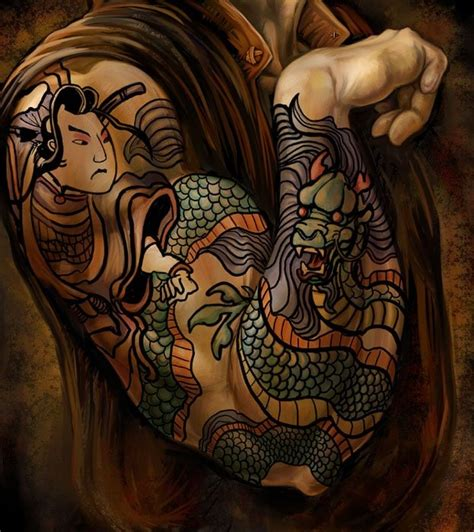 yakuza tattoo art pin by denise leahart on ink to flesh pinterest