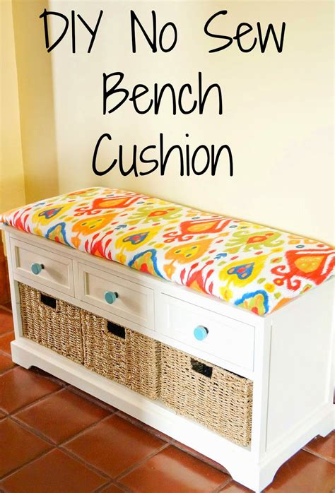 no sew bench cushion cover july 2014the interior frugalista july 2014