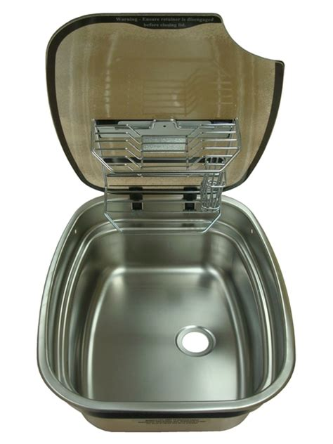 Caravan Kitchen Sinks Spinflo Centre Bowl Kitchen Caravan Sink With Rack And Glass Lid Caravan Components