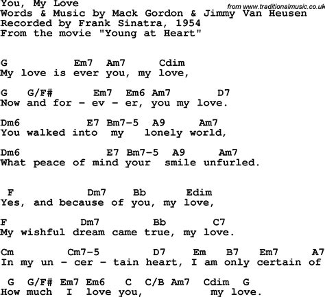 lyrics frank sinatra song lyrics with guitar chords for you my frank