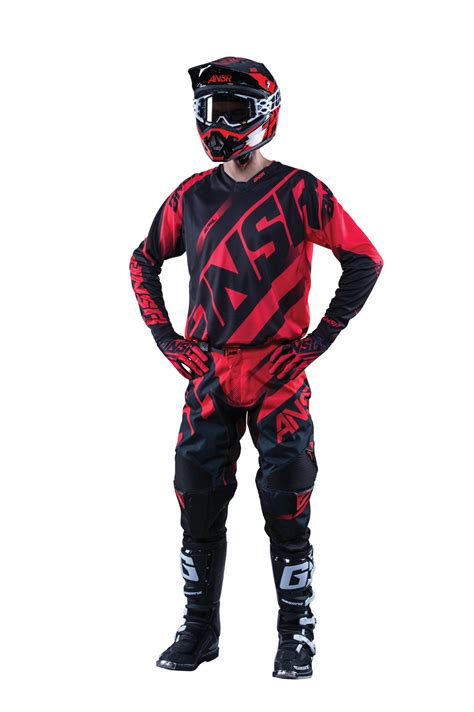 new motocross gear answer new 2016 mx gear alpha ansr dirt bike bmx mtb red
