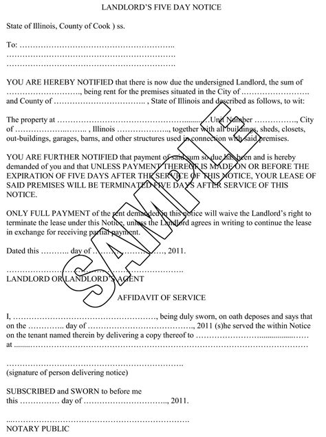Lease Default Letter Template Breaking The Parts Of A 5 Day Notice Demand For Rent