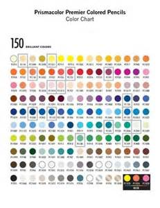 prismacolor 150 color chart colored pencil chart prismacolor premier colored pencils