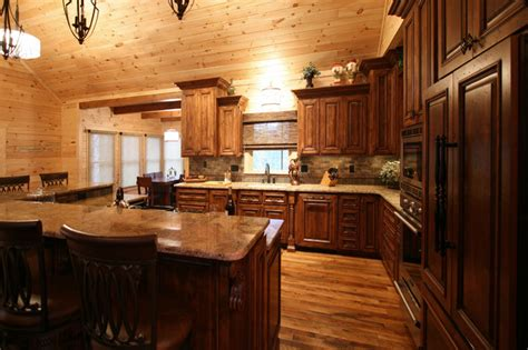 kitchen cabin rustic cabin style traditional kitchen charlotte