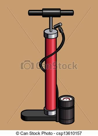 Air Pumps Velo clipart vector of bicycle air an isolated