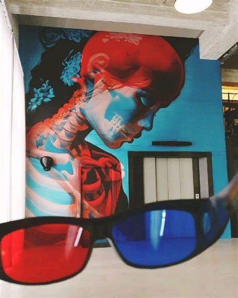 double exposure  glasses street art  insane  double