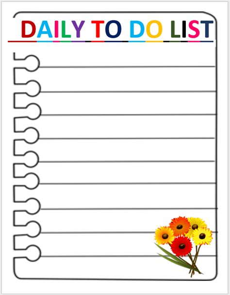 28 daily to do list template daily to do list template 7
