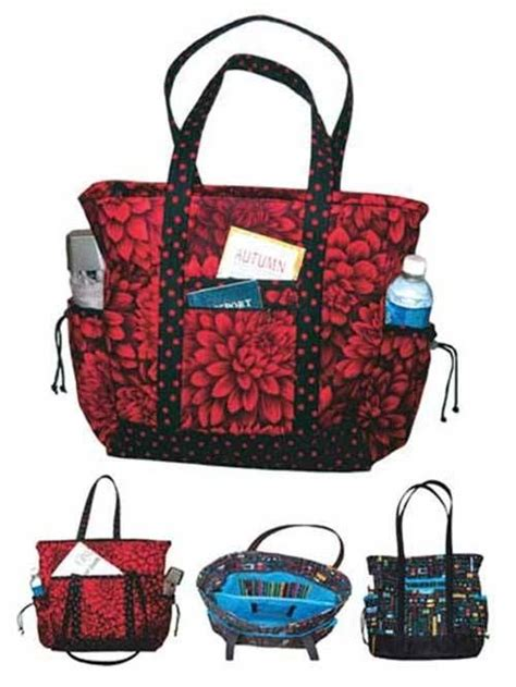tote bag pattern with lots of pockets going to the office or running errands this professional
