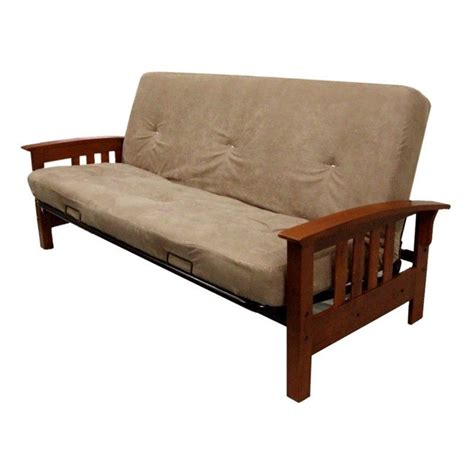 tan futon 8 inch independently encased coil premium full size futon