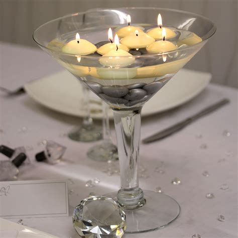 Large Martini Glass Vases Centerpieces by Large Martini Glass Centerpiece Surdel Rentals
