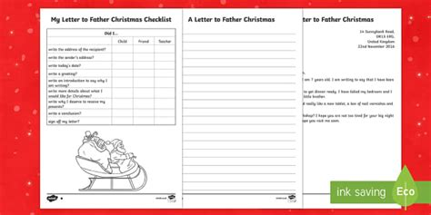 letter layout twinkl ks1 differentiated letter to father christmas writing sle
