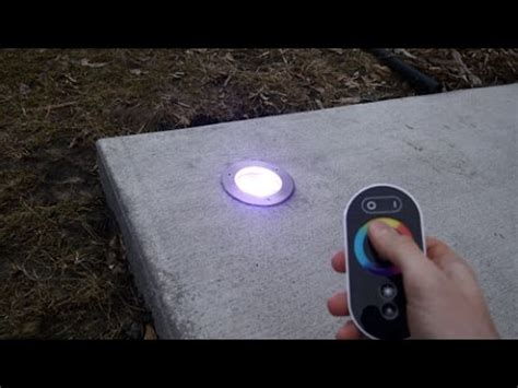 ground lights for driveways how to install color changing led in ground pathway