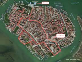 burano italy burano italy main tourist attractions and walking tour map of burano italy