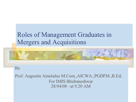 Mergers And Acquisitions Mba by Mergers And Acquisitions Tax Impact And Valuation