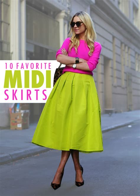 midi skirts the college prepster