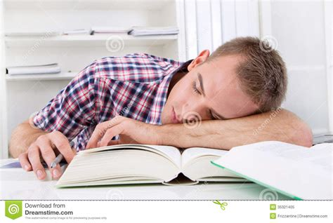 student sleeping at desk royalty free stock photo image