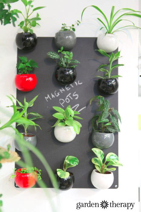 magnetic plant pots  bynature studio  garden therapy