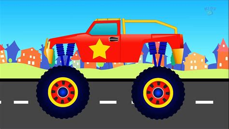 monster truck video for kids kids channel monster truck formation and stunts youtube