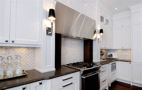 white marble backsplash contemporary kitchen