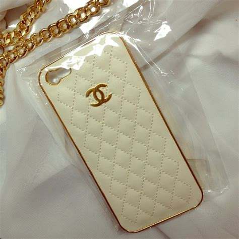 chanel  white  gold chanel iphone  case