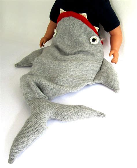 baby shark outfit baby shark sleeping bag handmade knitted baby costume