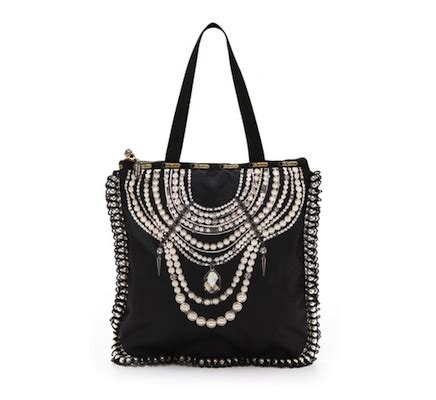 Trovata Canvas And Patent Tote The Bag Snob 4 by Erickson Beamon For Lesportsac Jerry Tote Bag Baubles