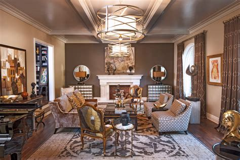 Transitional Style Living Room by Pasadena Transitional Style Italian Revival Formal Living